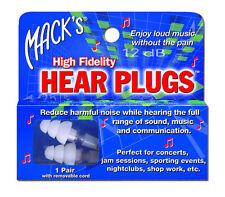 Mack's HEAR Plugs High Fidelity Musician Earplug Music Ear Plugs Concert Jamming