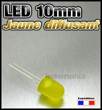 540-J/10# LED 10mm ronde diffusant jaune - 10 à 100pcs yellow LED diffused 10mm