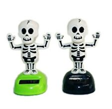 HAAC 4er Set Solar Wackelskelette Skelette Größe 11 cm Halloween