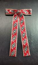 Vintage 50's-60's Christmas Holiday Country Western Clip-On Tie,Silver,Red,Black