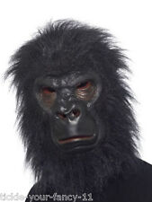 DELUXE LATEX GORILLA MASK KING KONG MONKEY HALLOWEEN FANCY DRESS UNISEX ANIMAL
