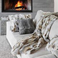 100% Real Fur Genuine Real Rabbit Fur Pillowcase Fur Unique Retro Cushion Cover