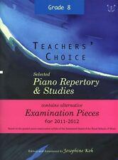 Choix des enseignants: sélectionné piano répertoire & études 2011-2012 (grade 8)