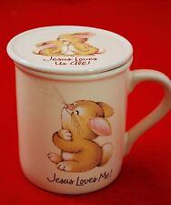 Jesus Loves Me Hallmark Mug Mates Coffee Mug Jesus Loves You Tea Bunny Cup Lid