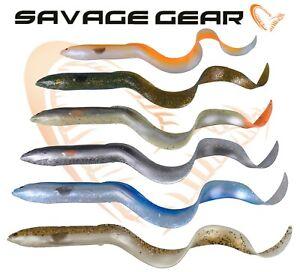 Savage Gear 3D REAL EEL Loose Body LB Curly Tail Lure Fishing Jig Head Pike UL