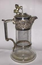 Superb Antique Elkington Silver Plated Claret Jug with Lion and Masked Spout