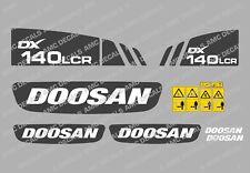 DOOSAN DX140LCR DIGGER DECAL STICKER SET