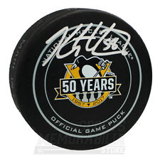 Kris Letang Pittsburgh Penguins Signed Autographed 50th Anniversary Game Puck
