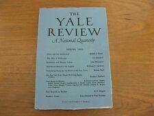 1964 Yale Review Iris Murdoch, Thom Gunn, Frederic Raphael, Hawthorne, Pack, ETC