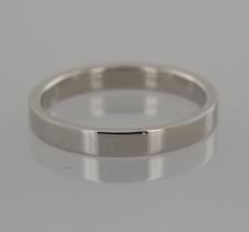 Tiffany & Co Platinum Flat Wedding Band Ring Size Q