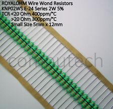 20 pezzi Resistenza Royal Ohm 33 Ohm 2W 5% a filo avvolto KNP02WS 300ppm/°C 33R