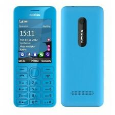 Totalmente Nuevo Teléfono NOKIA 206-CYAN-Desbloqueado-Bluetooth - 1.3MP Cam-WAP