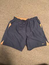 Nike Men Athletic Shorts Gym Shorts Small Gray Orange