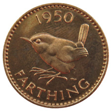 More details for 1950 king george vi proof farthing coin
