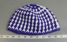 Handmade Purple & White Crochet Youth Hat K State Small