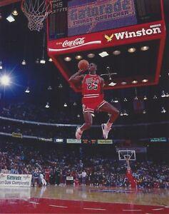 MICHAEL JORDAN 8X10 PHOTO CHICAGO BULLS  BASKETBALL NBA DUNK CONTEST