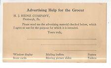 HJ Heinz Company, Grocer Ketchup Factory Advertizing Vintage Postcard