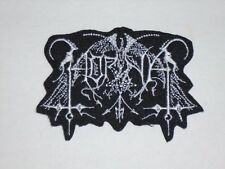 HORNA BLACK METAL IRON ON EMBROIDERED PATCH