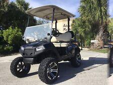 "Black 2016 yamaha drive 2 48v 4 seat Passenger golf cart 14""rims lifted new body"