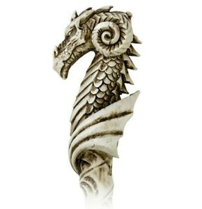 LAST CHANCE! Alchemy Gothic Dragon Wand Jurmungandr Pentagram Wicca Resin V31