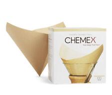 Chemex FSU-100 Natural Bonded Pre-folded Square Coffee Filters 100 Count NEW Box