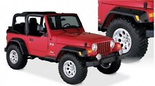 "BUSHWACKER 6"" POCKET STYLE FENDER FLARES 97-06 JEEP WRANGLER TJ & LJ SET OF 4"