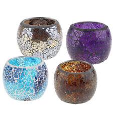 4-set Wedding Party Mosaic Glass Candle Holder Tea Light Candelabra Bowl