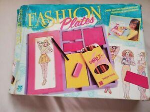 Vintage Hasbro Fashion Plates 1990 Fashion Design Not Complete #2508