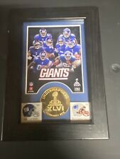Super Bowl XlvI 5 X 7 Wood Frame and Minted Bronze Coin Collectible