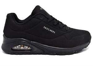 Skechers UNO - STAND ON AIR, Sneakers Casual Donna Black Memory foam 73690/BBK