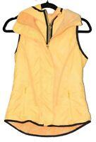 LULULEMON Athletica Running Glacier Vest Fire Yellow Hooded Fleece Puffer Size 4