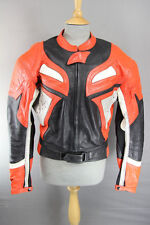 LOOKWELL LEATHER BIKER JACKET & REMOVABLE BACK/SHOULDER/ELBOW PROTECTORS 42 INCH