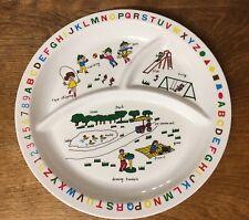 Interpur Vintage Child's Divided Plate 1985 Adorable