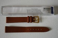 QUALITY Genuine Leather Watch Strap TAN Colour. 16mm. Cased. FREE P&P