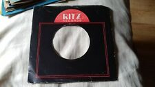 "original company sleeve for 7"" singles ritz records"