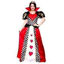 Adult Fairytale QUEEN OF HEARTS Fancy Dress Costume Wonderland Ladies Sizes 6-24