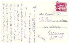 FRANCE carte postale 1938 pour la SUISSE type PAIX tarif 1 franc