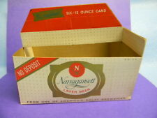 VINTAGE 1950'S NARRAGANSETT BEER FLAT TOP CAN 6 PACK CARRIER CRANSTON RI.