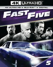FAST FIVE  (fast & the furious)  (4K ULTRA HD ) Blu Ray Region free