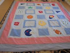All Sports Theme w/Frame Quilt