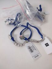 GAP Woven Rope Crystal Toggle Friendship bracelet NWT 14.95 EA BLU YELW LOT OF 2
