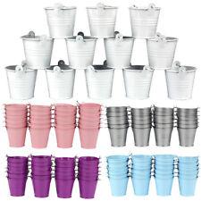 5×Mini Metal Pails Buckets Small Tin Wedding Party Xmas DIY Favors Bombonieres