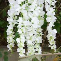 2M Artificial Silk Fake Flower Ivy Garland Vine Wedding Wisteria Leaf Hanging