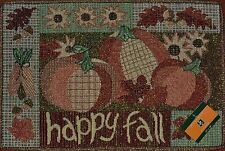 Tapestry Placemat~Happy Fall~Thanksgiving Pumpkin~Harvest Sunflower~Autumn~NEW