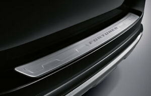 REAR BUMPER STEP GUARD STAINLESS GENUINE PARTS FOR TOYOTA FORTUNER 2015 - 2018