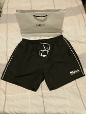 "GENUINE "" HUGO BOSS "" SHORTS /  SWIMMING TRUNKS BLACK  SIZE  XL"
