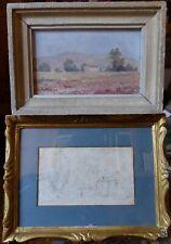 Paire de tableaux, scènes champêtre de petit format, XIXe et XXe