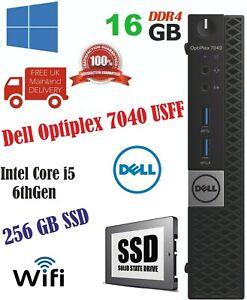 Dell Optiplex 7040 USFF Intel Core i5 6thGen 16GB Ram 256GB SSD WiFi
