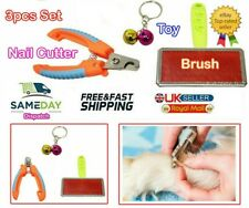 Dog Pet Animal Cat Nail Clippers Slicker Brush Grooming Claws Coat Cutter Puppy