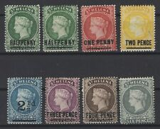 G129972/ ST HELENA / BRITISH COLONY / LOT 1884 - 1894 MINT MH – CV 155 $